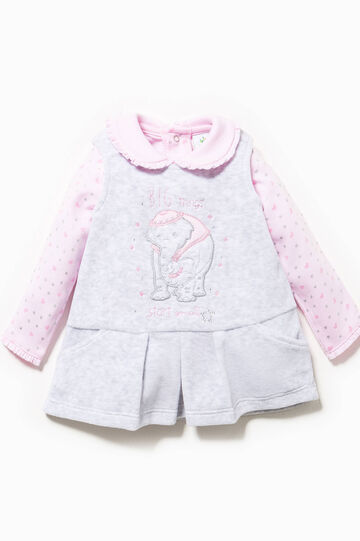 Dumbo T-shirt and dress outfit, Grey/Pink, hi-res