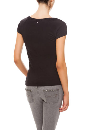 T-shirt con stampa, Black, hi-res