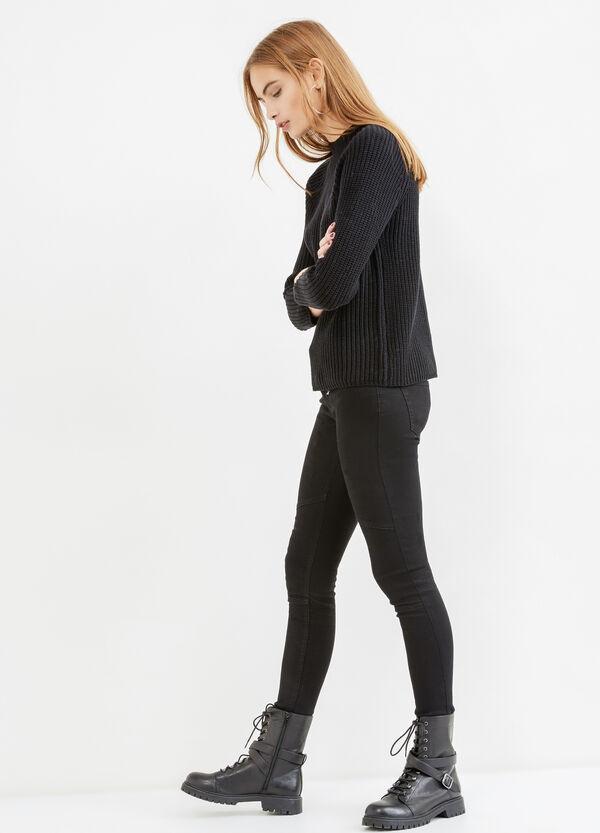Solid colour knit cotton pullover | OVS