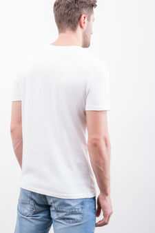 Printed T-shirt in 100% cotton, Optical White, hi-res