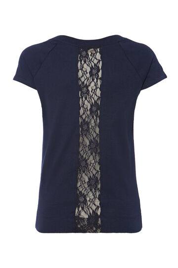 T-shirt retro pizzo Smart Basic, Blu, hi-res