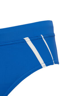 Stretch swim briefs with drawstring waist., Cornflower Blue, hi-res