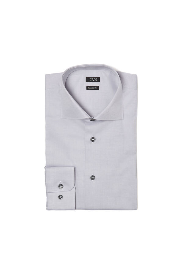 Camicia regular fit colletto francese | OVS
