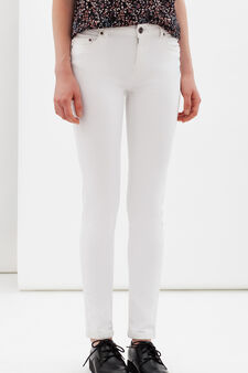 Skinny fit jeans, White, hi-res