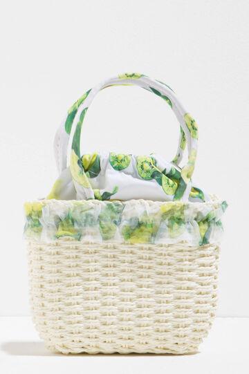 Woven handbag with fruit