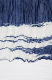 Creased effect printed scarf, White/Blue, hi-res