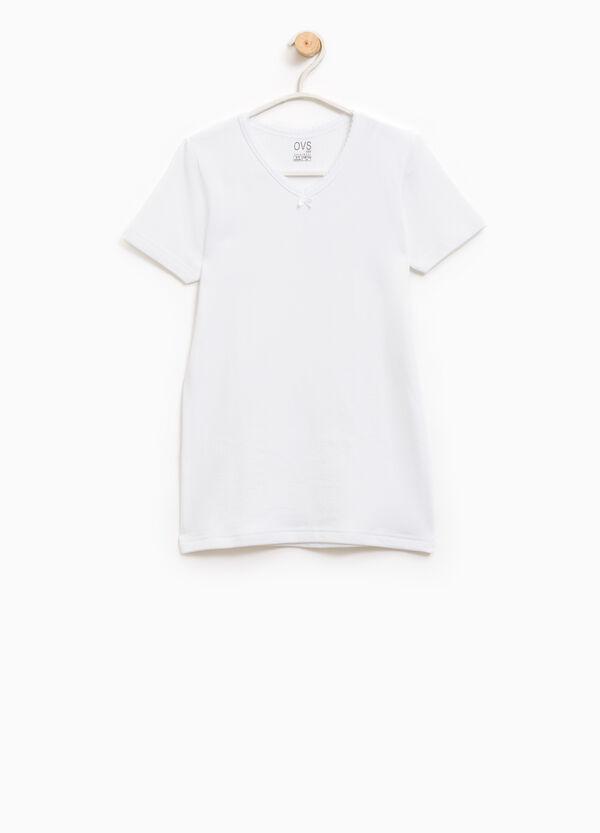 T-shirt intima puro cotone fiocchetto   OVS
