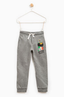 Joggers with Angry Birds print, Grey Marl, hi-res