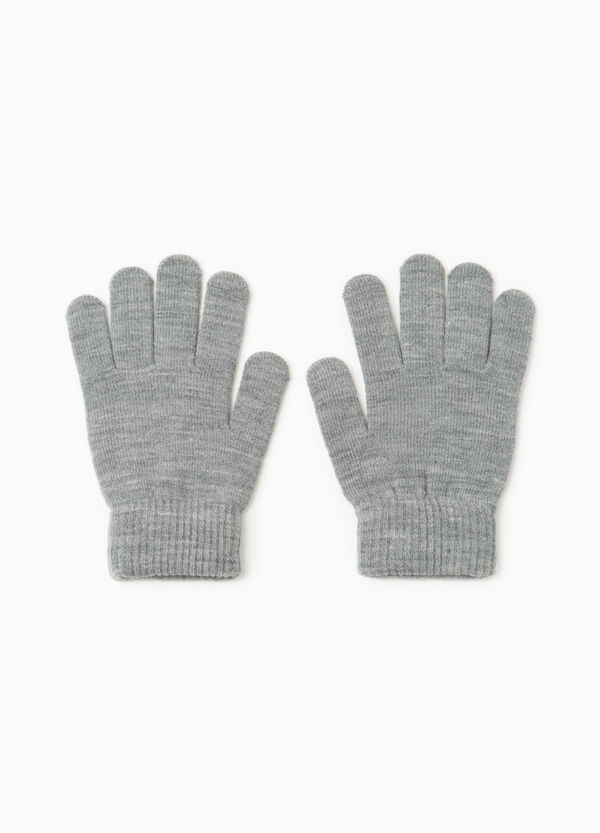 Solid colour gloves with ribbing   OVS