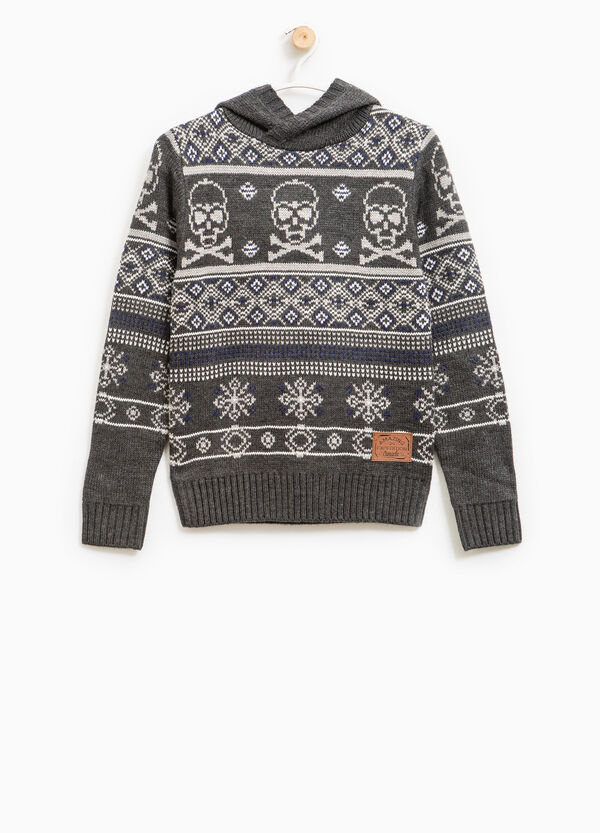 Pullover tricot stampa all-over | OVS
