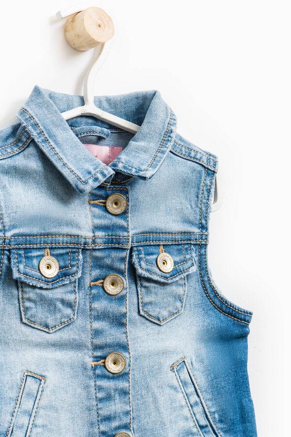 Stretch denim waistcoat with pockets | OVS