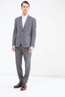 Elegant slim-fit suit, Grey, hi-res