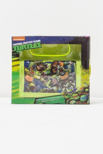 Ninja Turtles wallet and bracelet set, Green, hi-res