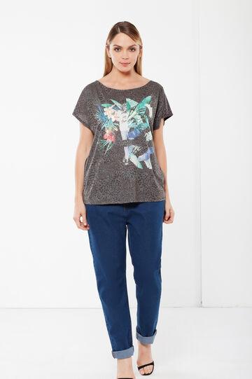 T-shirt Curvy  maniche corte, Multicolor, hi-res