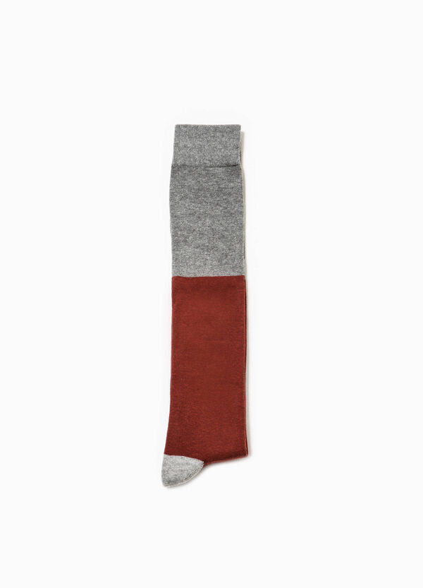 Long socks in two-tone viscose | OVS