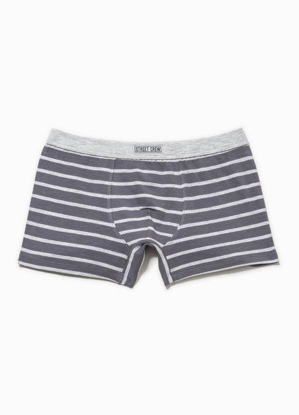 Striped stretch cotton boxers | OVS