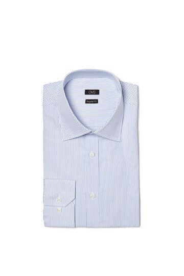Regular-fit striped shirt, White/Light Blue, hi-res