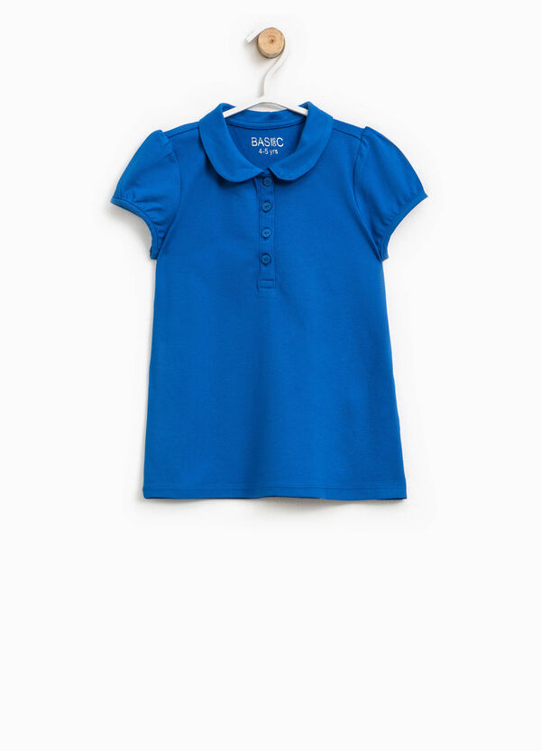 Polo shirt in cotton with puff sleeves | OVS