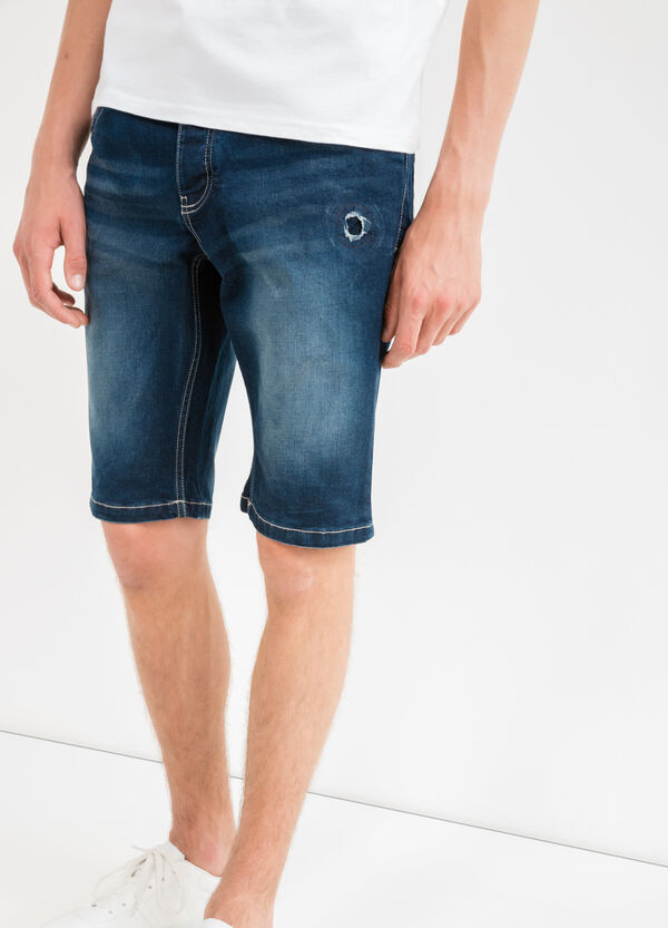 Bermuda di jeans slim fit used stretch | OVS