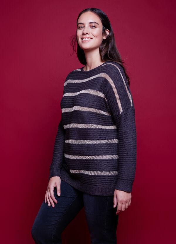 Pullover a righe lana e lurex Curvy | OVS
