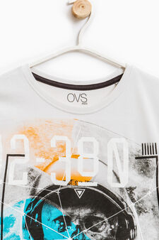 Printed T-shirt in 100% cotton, Chalk White, hi-res