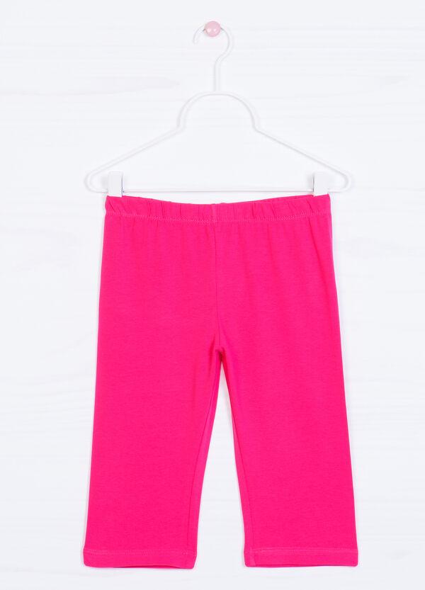 Solid colour cotton leggings | OVS