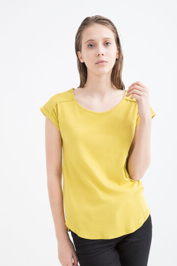 100% cotton T-shirt with round neck.