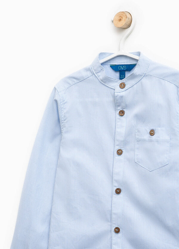 Micro-check cotton shirt | OVS