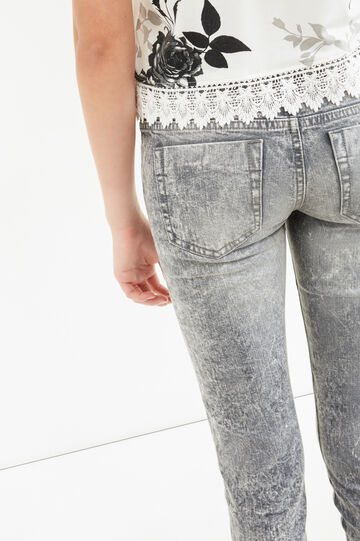 Mis-dyed, stretch skinny-fit jeans, Grey, hi-res