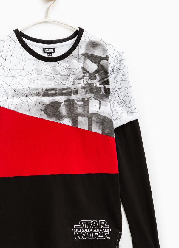 T-shirt cotone finto doppio Star Wars   OVS