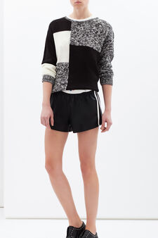Plain shorts., Black, hi-res
