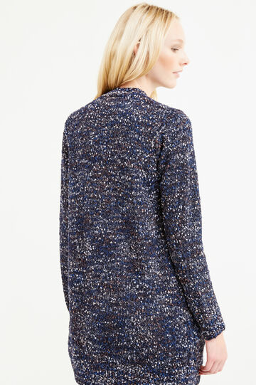 Long cardigan with pockets, Blue, hi-res
