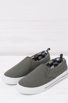 Slip-on shoes with contrasting inner, Grey, hi-res