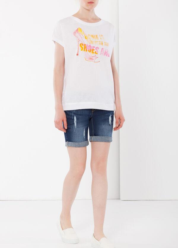 T-shirt smanicata con stampa | OVS