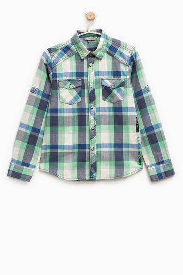 Tartan shirt in 100% cotton
