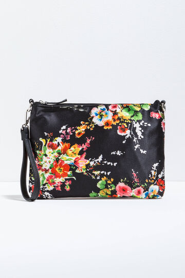 Shoulder bag with floral print