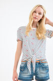 Patterned T-shirt in modal and cotton, Milky White, hi-res