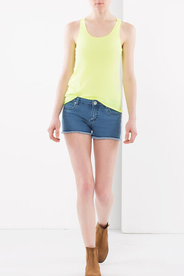 Top with racer back, Lemon Yellow, hi-res