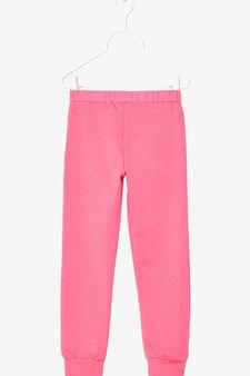 Rhinestone stretch trousers, Fuchsia, hi-res