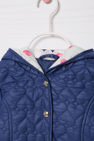 Jacket with heart quilting