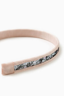Hairband with glitter, Pink, hi-res