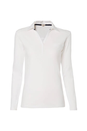 Smart Basic polo shirt in 100% cotton, White, hi-res