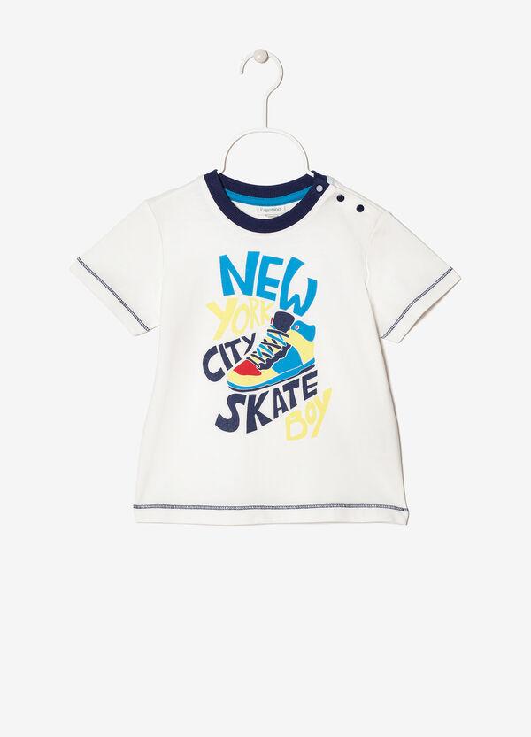 T-shirt with round neck | OVS