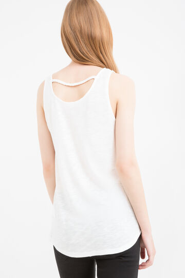 100% viscose top with print, Milky White, hi-res