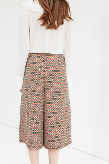 Culottes with all-over print, Cream White, hi-res