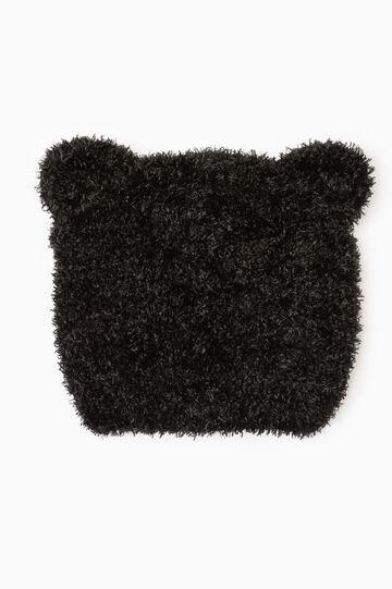 Beanie cap with ears, Black, hi-res