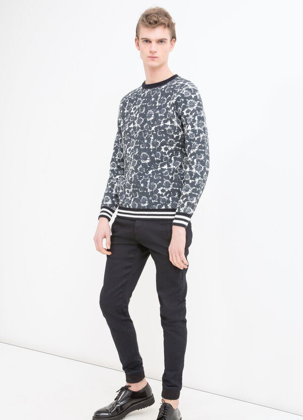Printed pullover in 100% cotton | OVS