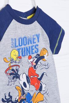 Completo puro cotone Looney Tunes, Blu/Grigio, hi-res