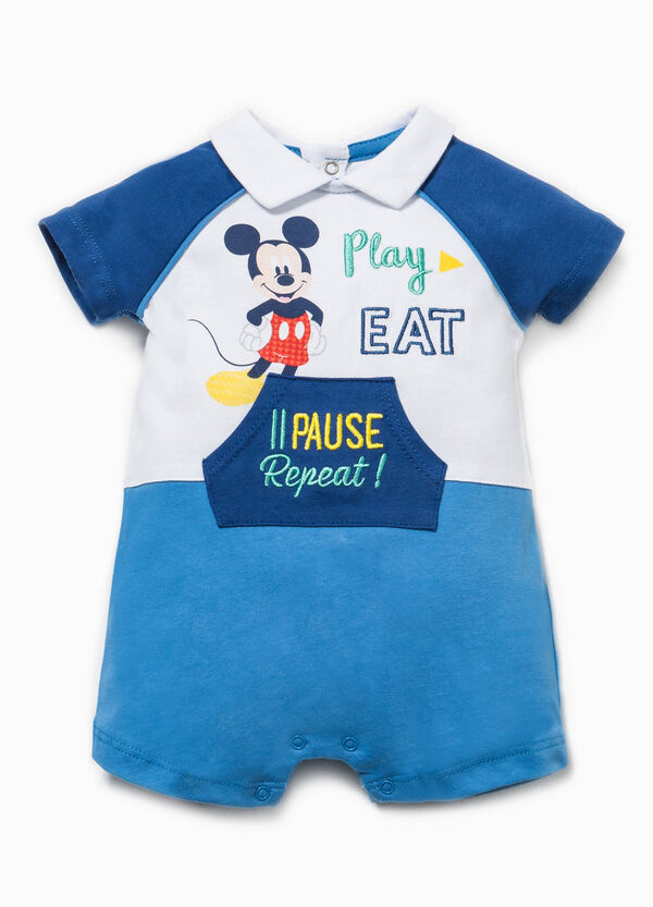 Two-tone Mickey Mouse romper suit | OVS