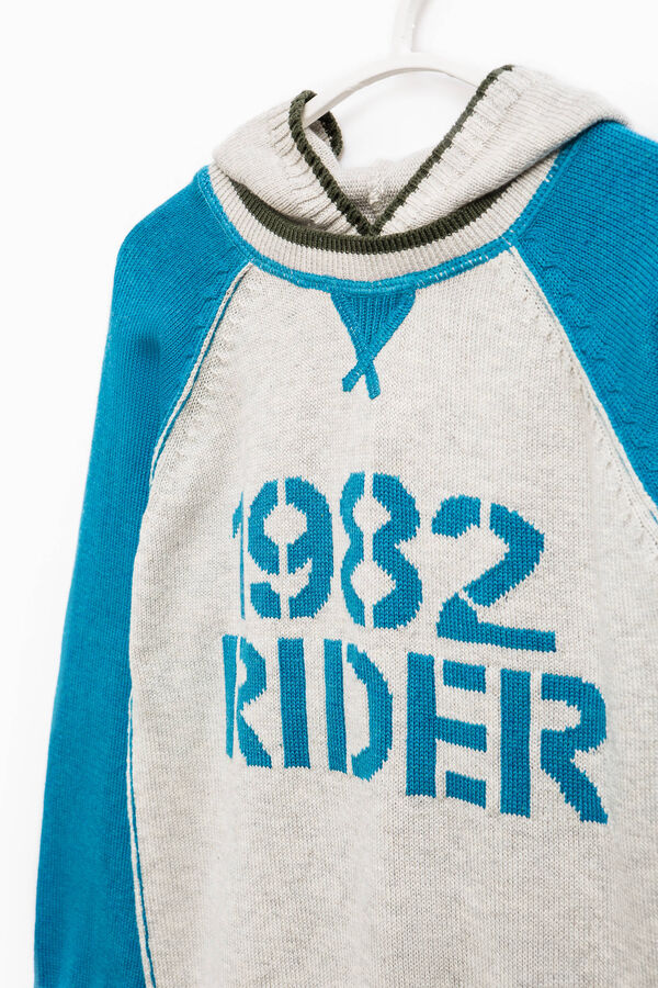 Cotton pullover with embroidered lettering | OVS